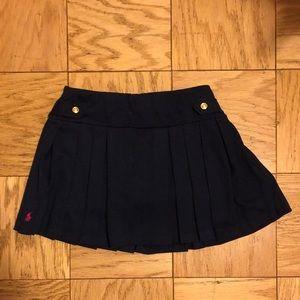Navy pleated Ralph Lauren skirt.